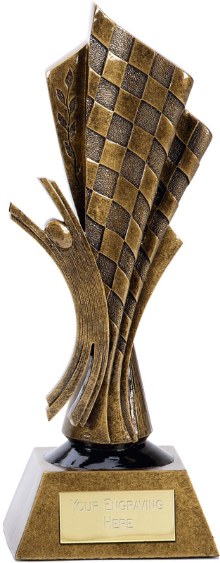 """Resin Antique Gold Moto Elation Trophy 30.5cm (12"""")"""
