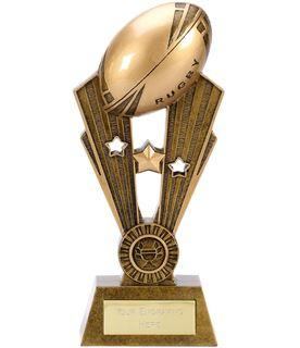 """Resin Antique Gold Fame Rugby Trophy 21.5cm (8.5"""")"""
