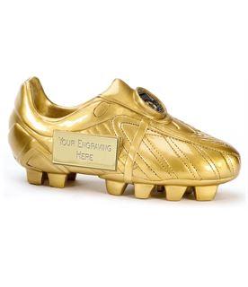 "Premier Golden Boot Resin Football Trophy 18cm (7"")"