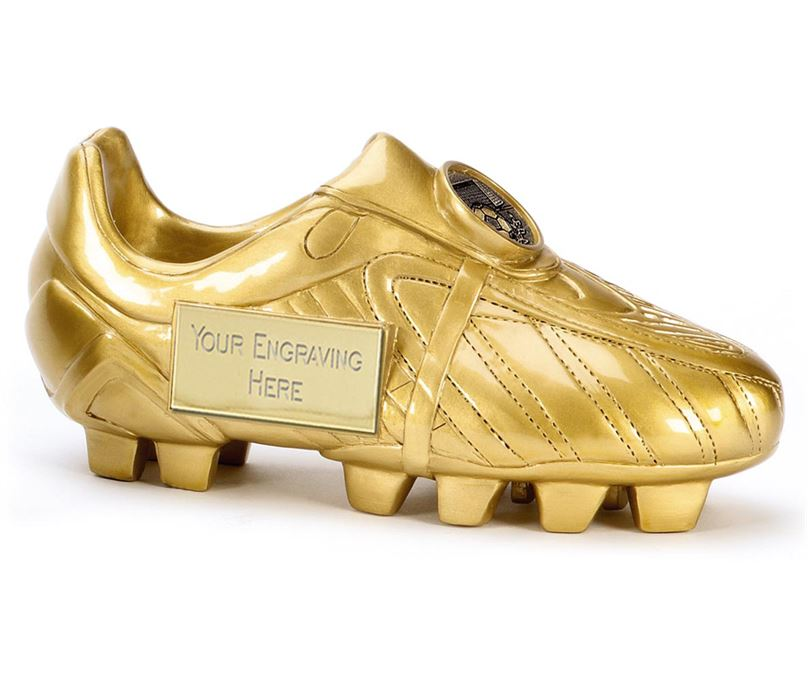 "Premier Golden Boot Resin Football Trophy 18cm (7"")"