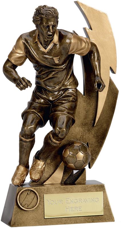 """Gold Flash Action Footballer Trophy 17cm (6.75"""")"""