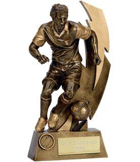 """Gold Flash Action Footballer Trophy 18.5cm (7.25"""")"""