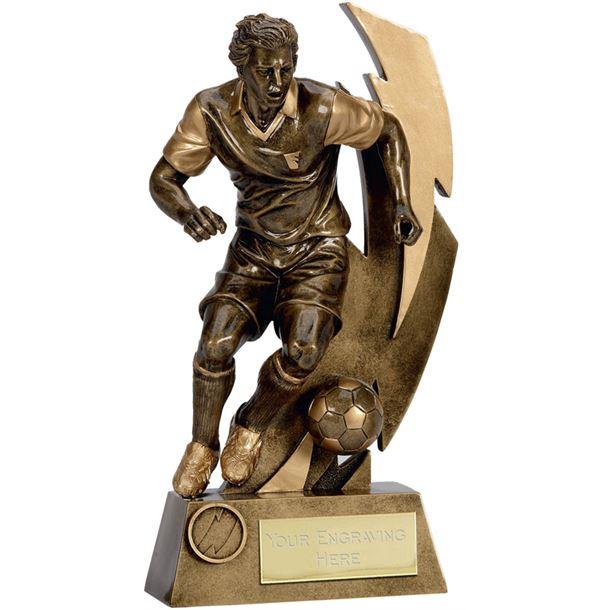 """Gold Flash Action Footballer Trophy 26.5cm (10.5"""")"""