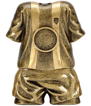 "Traditional Football Shirt & Shorts Trophy 12cm (4.75"")"