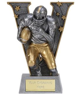 "Silver Resin Victory American Football Trophy 12.5cm (5"")"