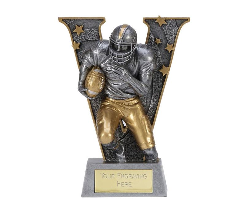 """Silver Resin Victory American Football Trophy 12.5cm (5"""")"""