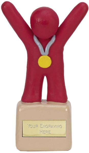 "Red Clay 1st Place Medal Winner Trophy 12.5cm (5"")"