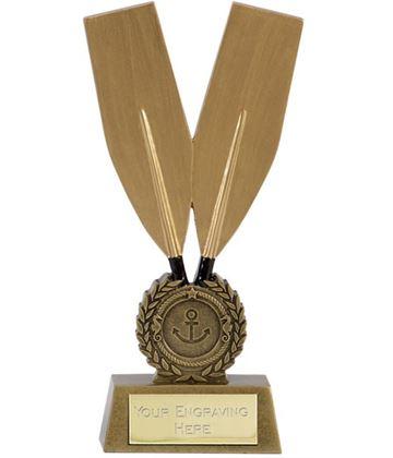 """Gold Resin Challenge Oar Rowing Trophy 20.5cm (8"""")"""