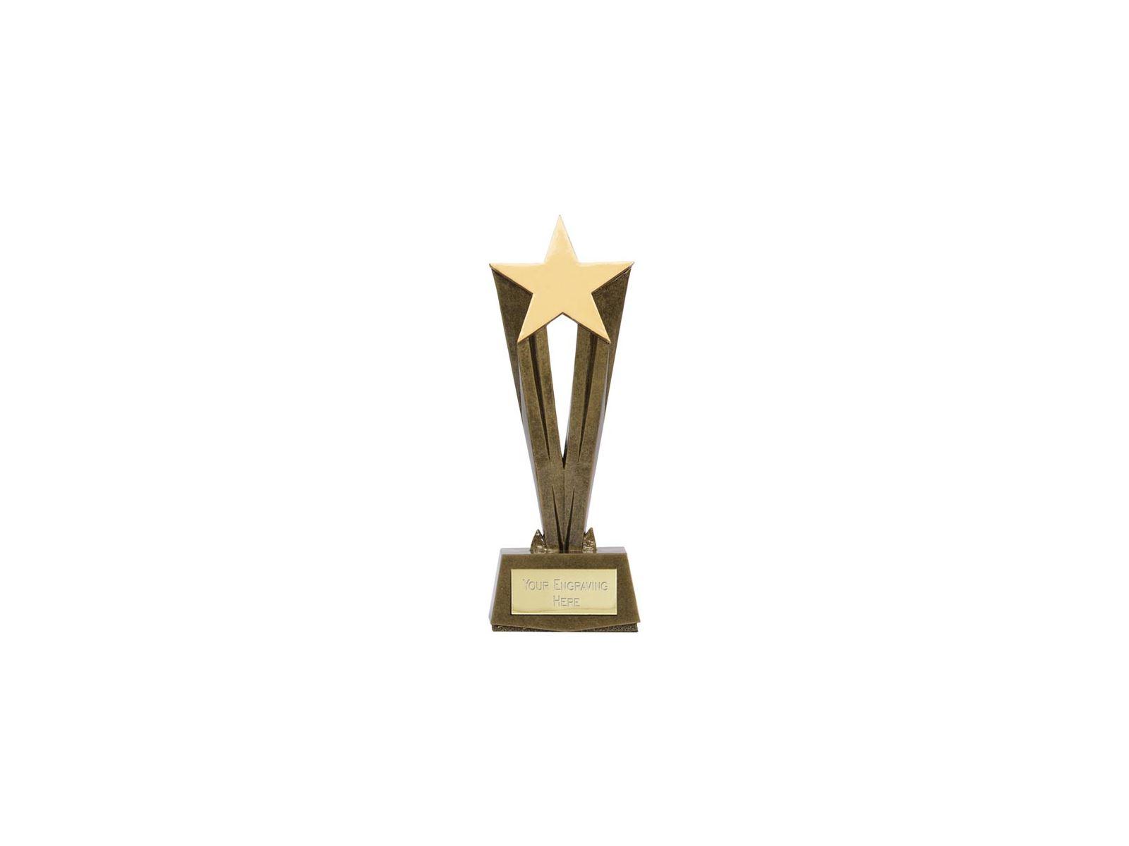 Antique Gold Resin Cherish Star Trophy 17cm 675