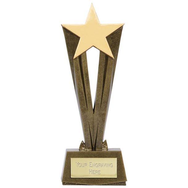 "Antique Gold Resin Cherish Star Trophy 17cm (6.75"")"
