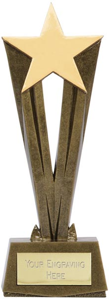"Antique Gold Resin Cherish Star Trophy 19.5cm (7.75"")"