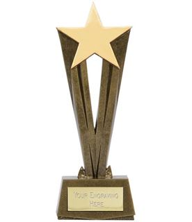 "Antique Gold Resin Cherish Star Trophy 22cm (8.75"")"