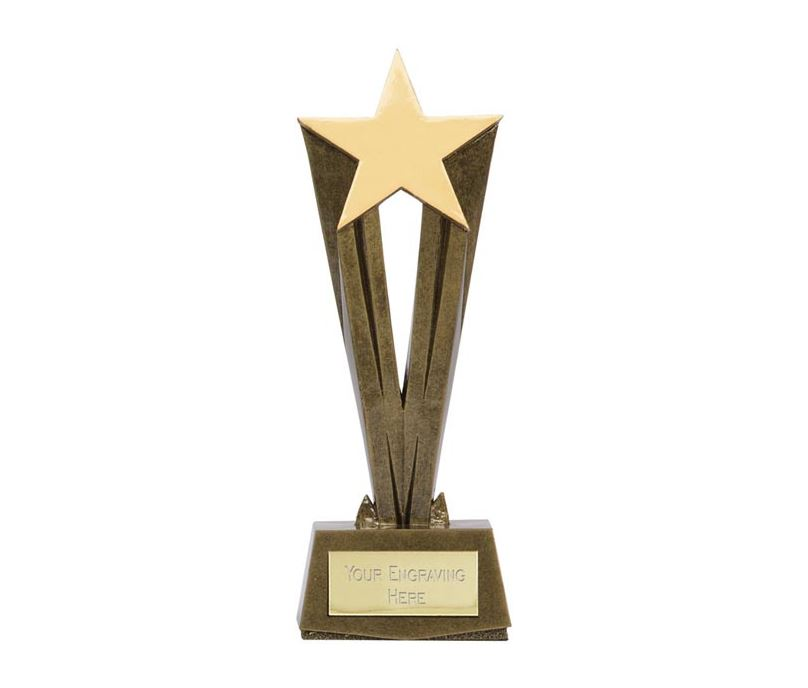 "Antique Gold Resin Cherish Star Trophy 22cm (8.75"")"