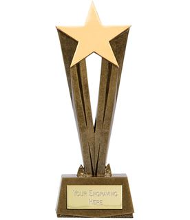 "Antique Gold Resin Cherish Star Trophy 28cm (11"")"