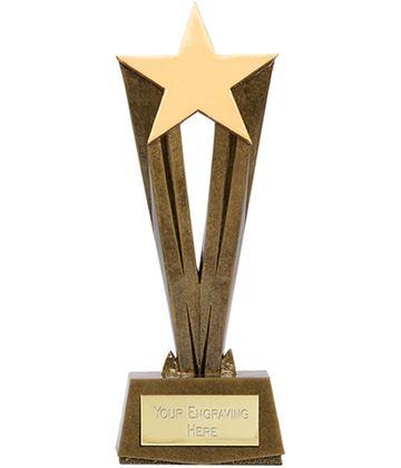 "Antique Gold Resin Cherish Star Trophy 28cm (11"")"