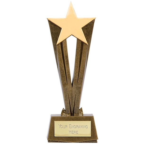 "Antique Gold Resin Cherish Star Trophy 32cm (12.5"")"