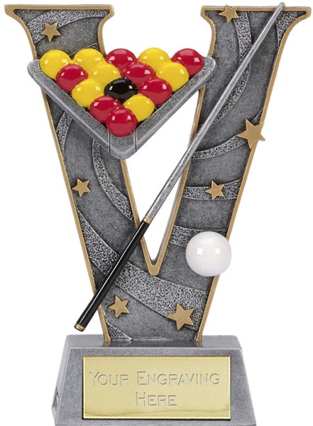 "Silver Resin Victory Pool Trophy 15cm (6"")"
