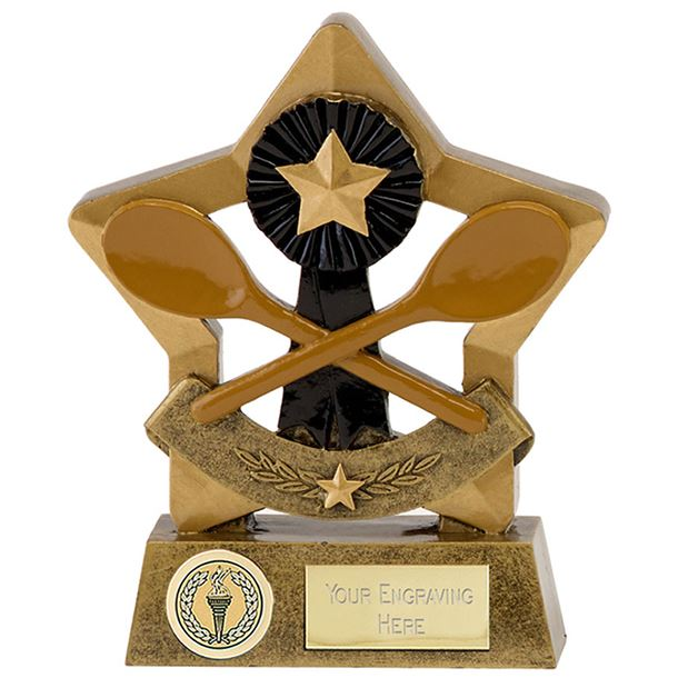 "Resin Wooden Spoon Star Trophy 14cm (5.5"")"