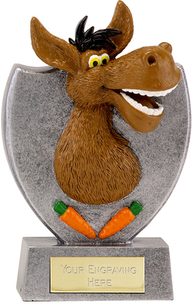 "Humorous Donkey Booby Prize Trophy 14cm (5.5"")"