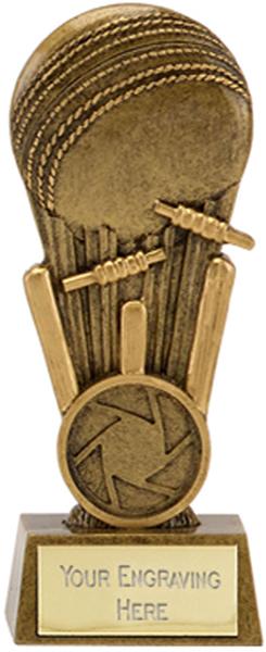 "Antique Gold Mini Focus Cricket Ball Trophy 10cm (4"")"
