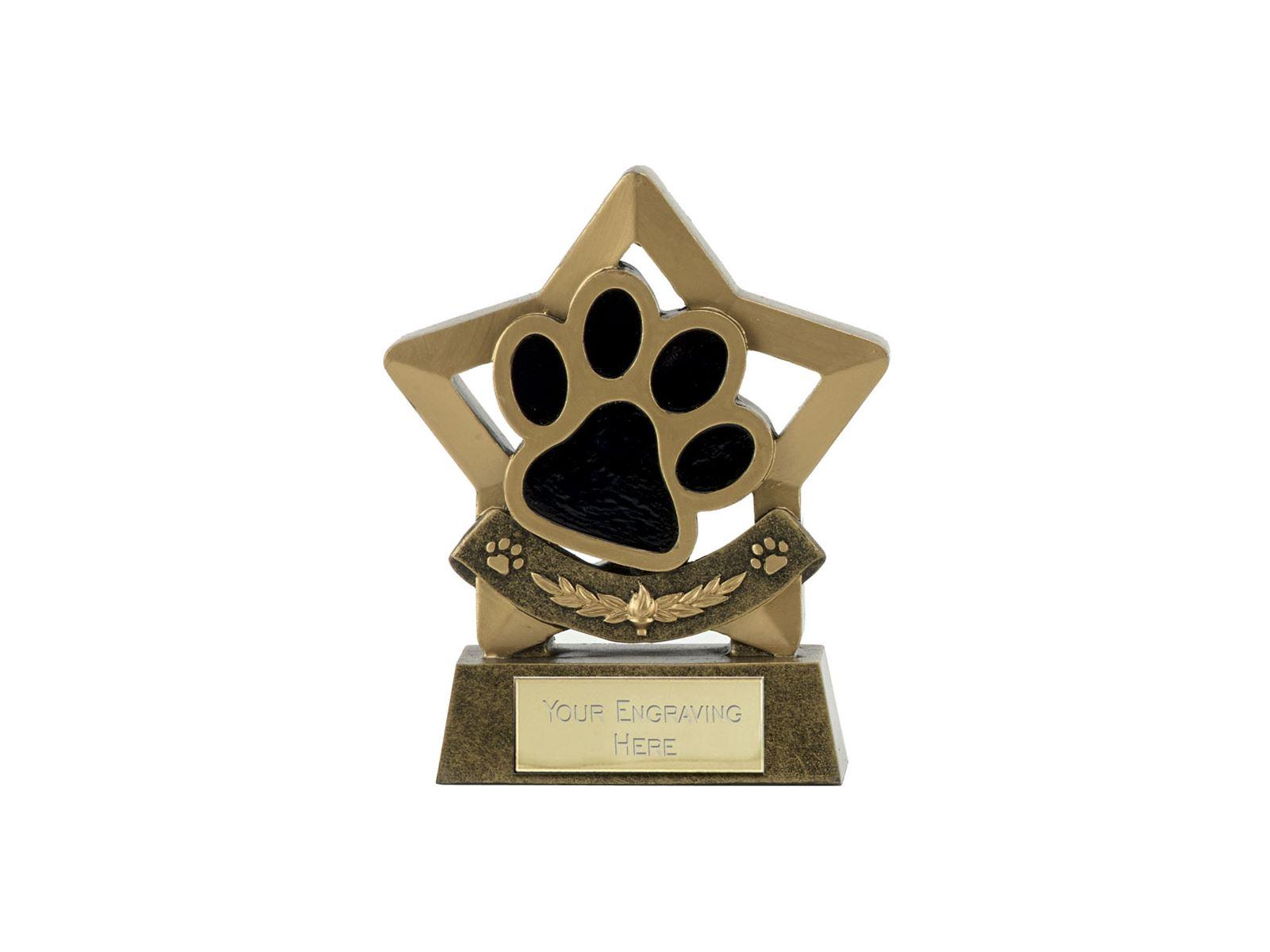 Star Dog Or Cat Paw Pet Trophy 14cm 55