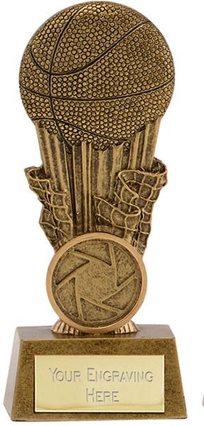 "Antique Gold Resin Focus Basketball Trophy 12cm (4.75"")"