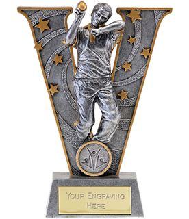 "Silver Resin Victory Cricket Bowler Trophy 15cm (6"")"