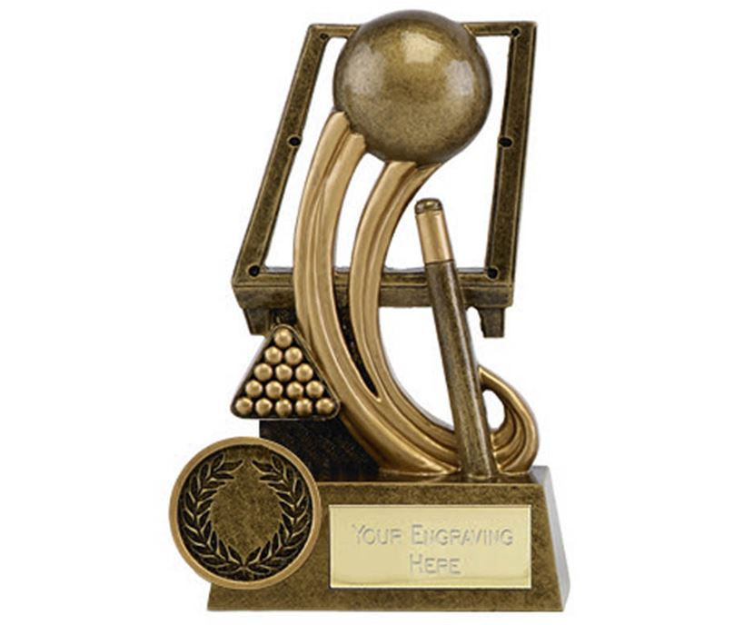 """Epic Resin Pool and Snooker Trophy 11.5cm (4.5"""")"""