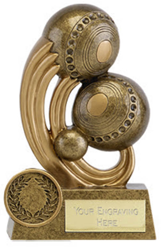 "Epic Resin Lawn Bowls Trophy 11.5cm (4.5"")"