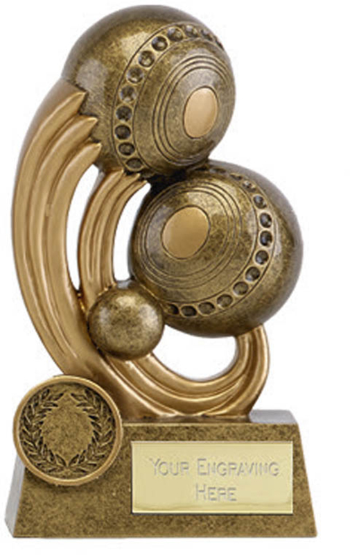 "Epic Resin Lawn Bowls Trophy 14cm (5.5"")"