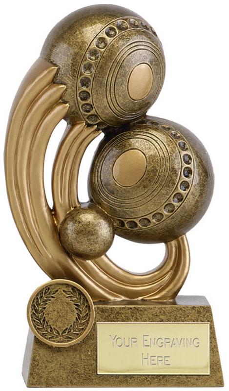 "Epic Resin Lawn Bowls Trophy 16.5cm (6.5"")"