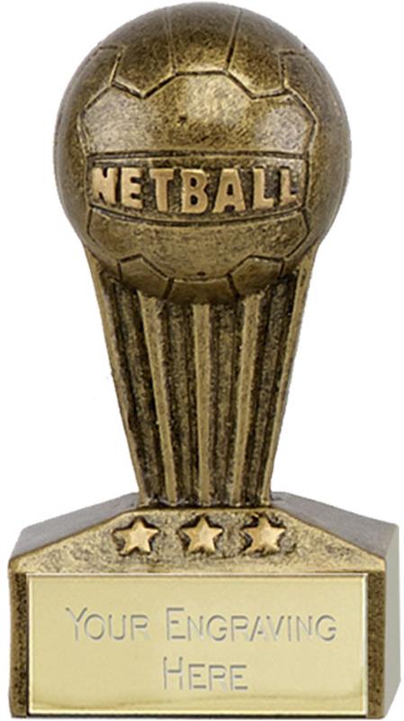 "Micro Trophy Netball Award 7.5cm (3"")"