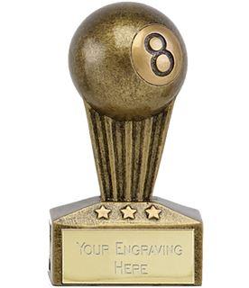 "Micro Trophy Pool Ball Award 7.5cm (3"")"