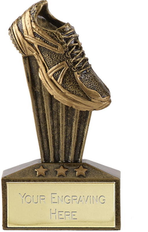 "Micro Trophy Running Shoe Award 7.5cm (3"")"