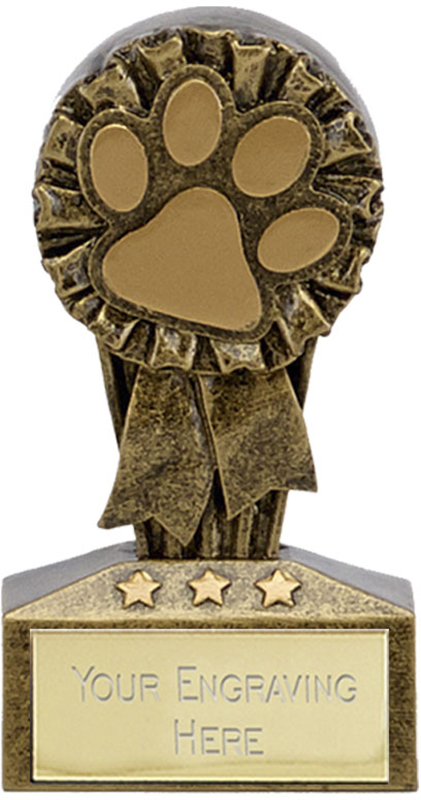 "Micro Trophy Dog or Cat Paw Award 7.5cm (3"")"