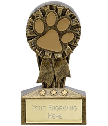"Micro Trophy Dog or Cat Paw Award 7.5cm (3"")"