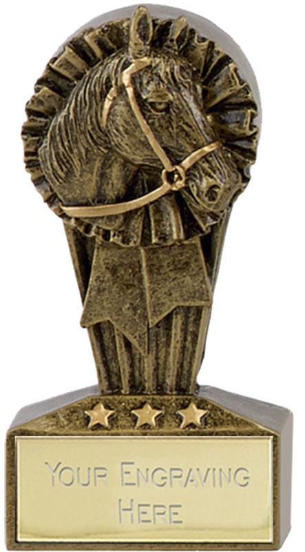 "Micro Trophy Horse Rosette Award 7.5cm (3"")"