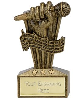 "Micro Trophy Microphone Award 7.5cm (3"")"