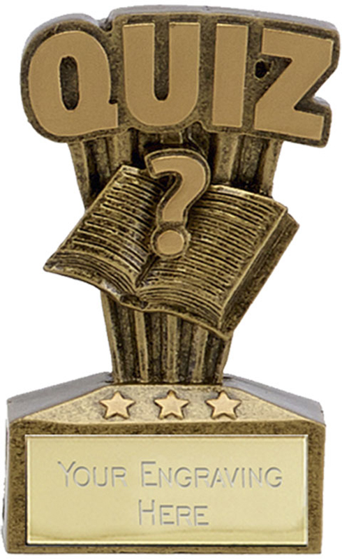 "Micro Trophy Quiz Award 7.5cm (3"")"