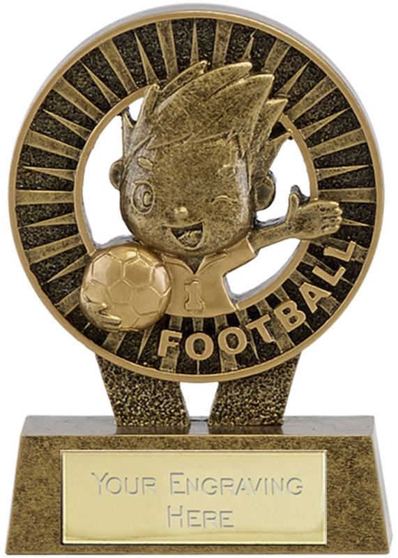 "Kidz Football Resin Trophy 8.5cm (3.25"")"