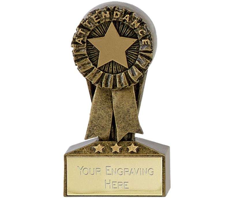 "Micro Trophy Attendance Award 7.5cm (3"")"
