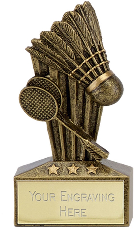 "Micro Trophy Badminton Award 7.5cm (3"")"
