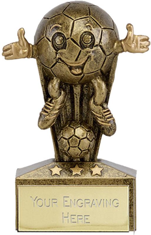 "Micro Trophy Comic Football Award 7.5cm (3"")"