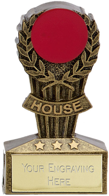"Micro Trophy Red House Award 7.5cm (3"")"
