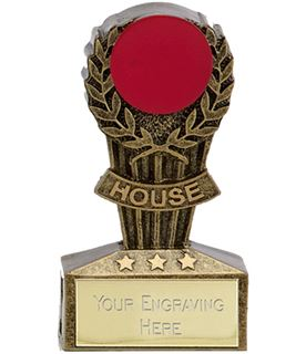 """Micro Trophy Red House Award 7.5cm (3"""")"""