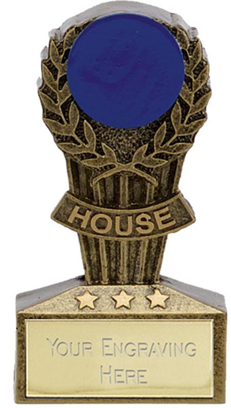"Micro Trophy Blue House Award 7.5cm (3"")"