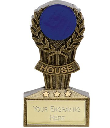 "Micro Trophy Blue House Award 7.5cm (3"")"