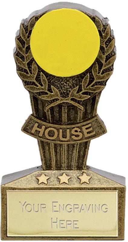 "Micro Trophy Yellow House Award 7.5cm (3"")"