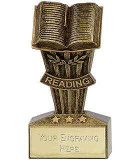 "Micro Trophy Reading Award 7.5cm (3"")"