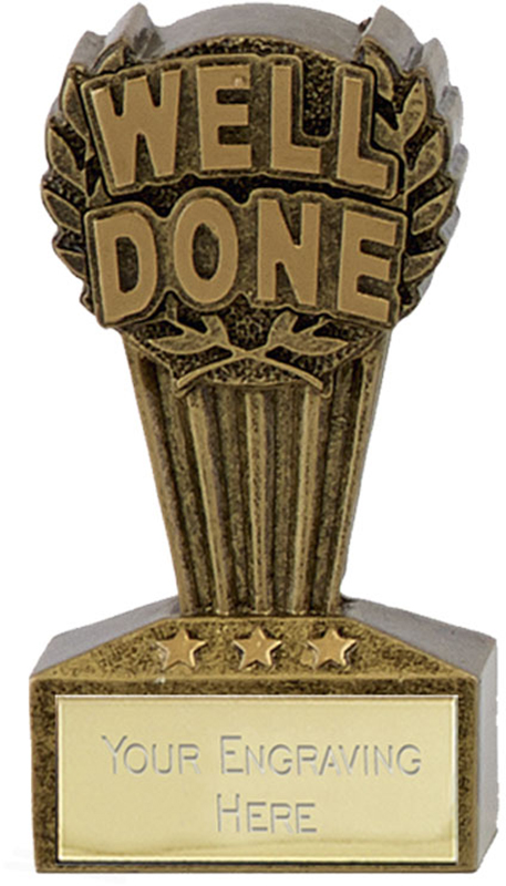 "Micro Trophy Well Done Award 7.5cm (3"")"
